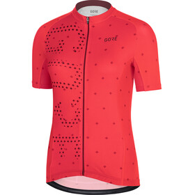 GORE WEAR C3 Brand Kortärmad cykeltröja Dam röd
